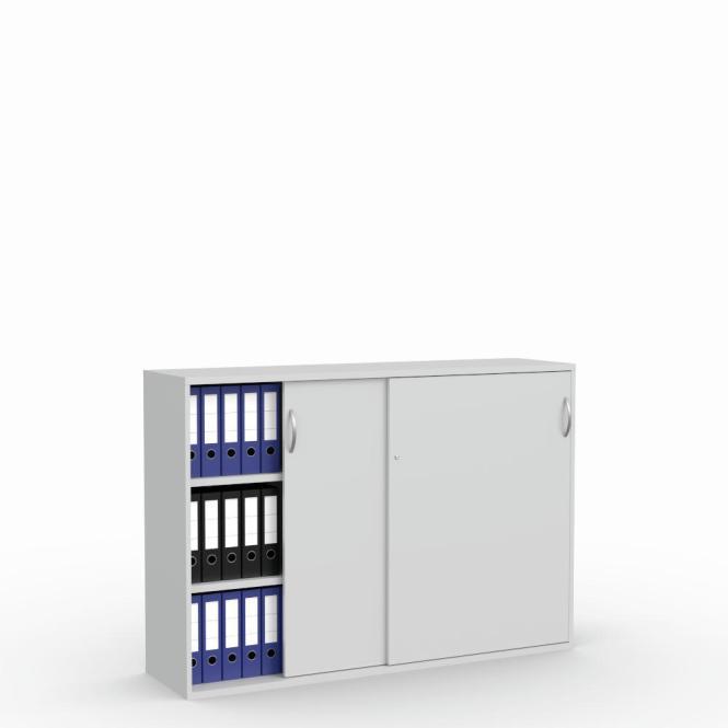 Schiebetürenschrank Multi M pro Lichtgrau | 1600 mm | 1140 mm (3 OH)
