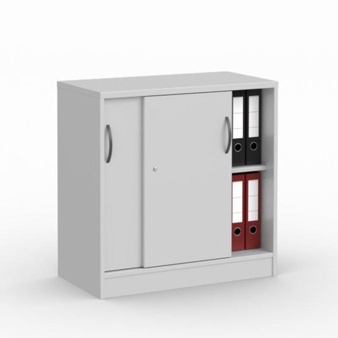 Schiebetürenschrank MULTI M Lichtgrau   800 mm   ohne Garderobe   805 mm (2 OH)