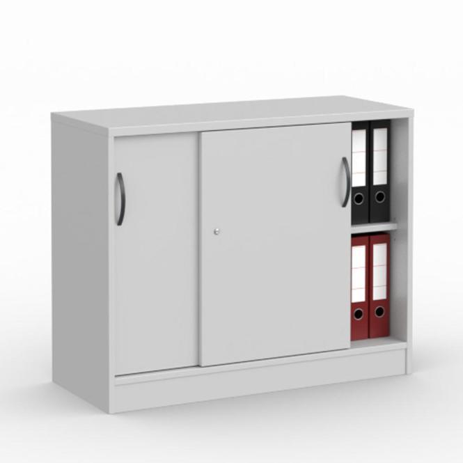 Schiebetürenschrank MULTI M Lichtgrau | 1000 mm | ohne Garderobe | 805 mm (2 OH)