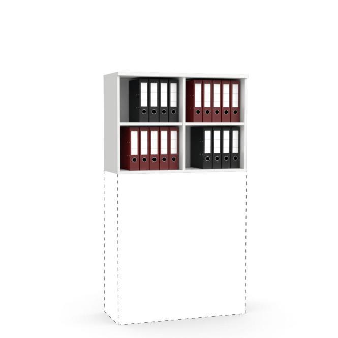 Aufsatz-Regal MULTI M Weiß   1000 mm   710 mm (2 OH)