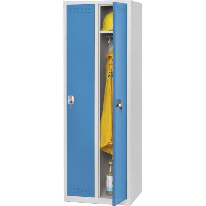 Garderoben-Stahlspind SP PROFI SYSTEM Lichtblau RAL 5012   300 mm   2 Stück   Zylinderschloss