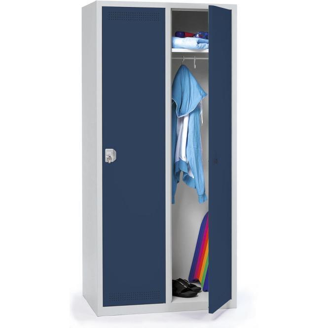 Garderoben-Stahlspind SP PROFI SYSTEM Stahlblau RAL 5011   400 mm   2 Stück   Drehriegelverschluss