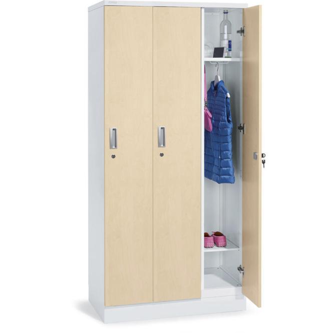 Garderobenschrank Ahorndekor | 3 Abteile