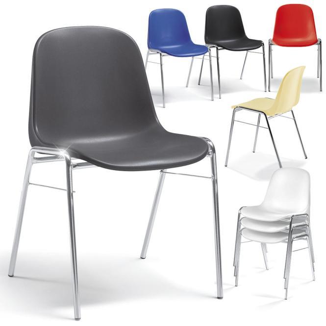 Schalenstühle HIP aus bruchsicherem Kunststoff