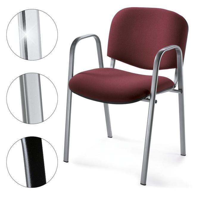 Besucherstuhl mit Armlehnen, 3 Gestellfarben