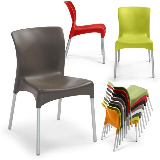 Kunststof stoel IBIZA - zonder armleggers