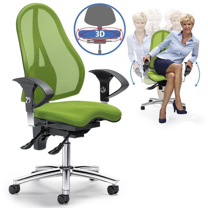 Bürodrehstuhl SITNESS 40 NET - bewegliche Sitzfläche