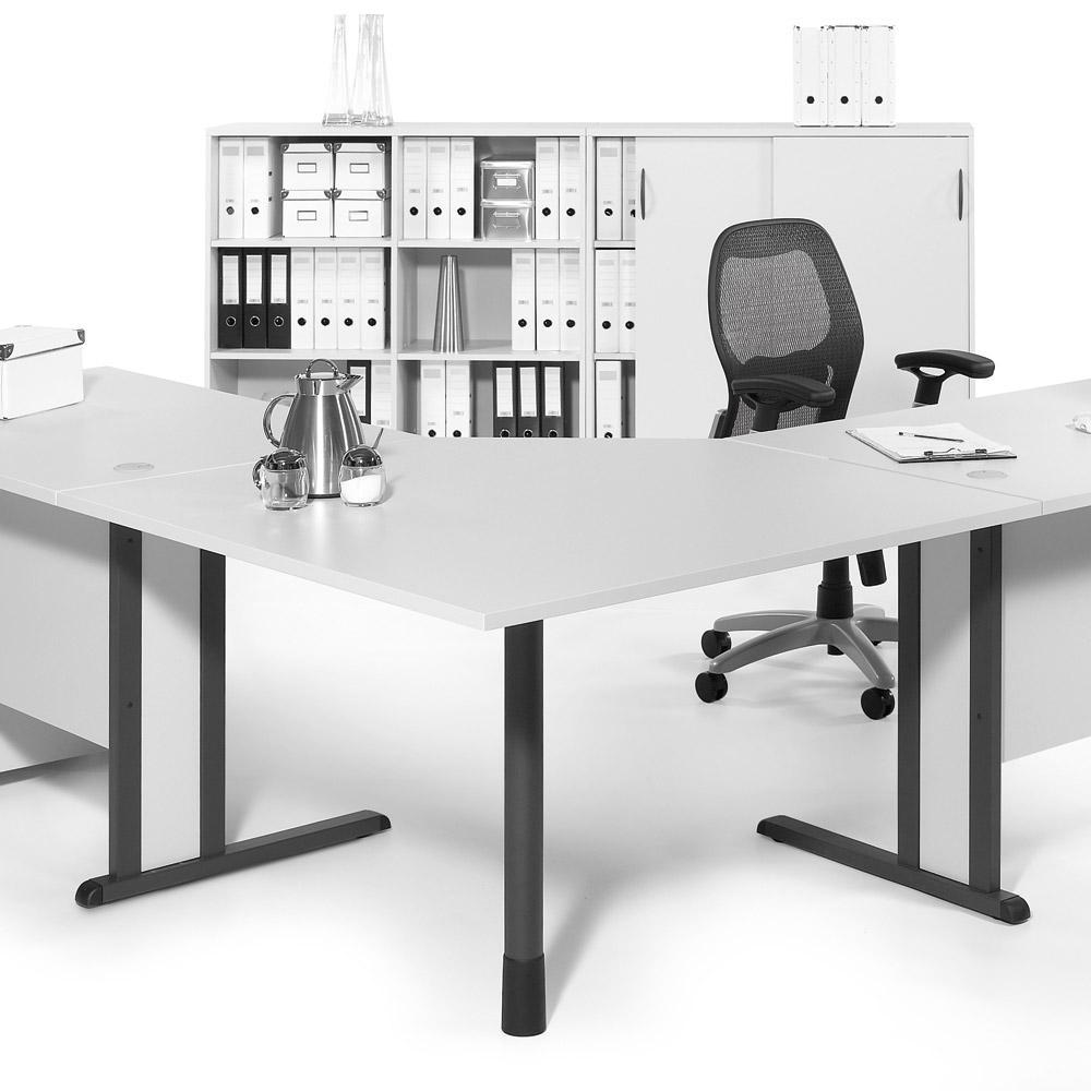 Verkettungsplatten 90° Quadrat für Basic-Tische | Büromöbel und ...