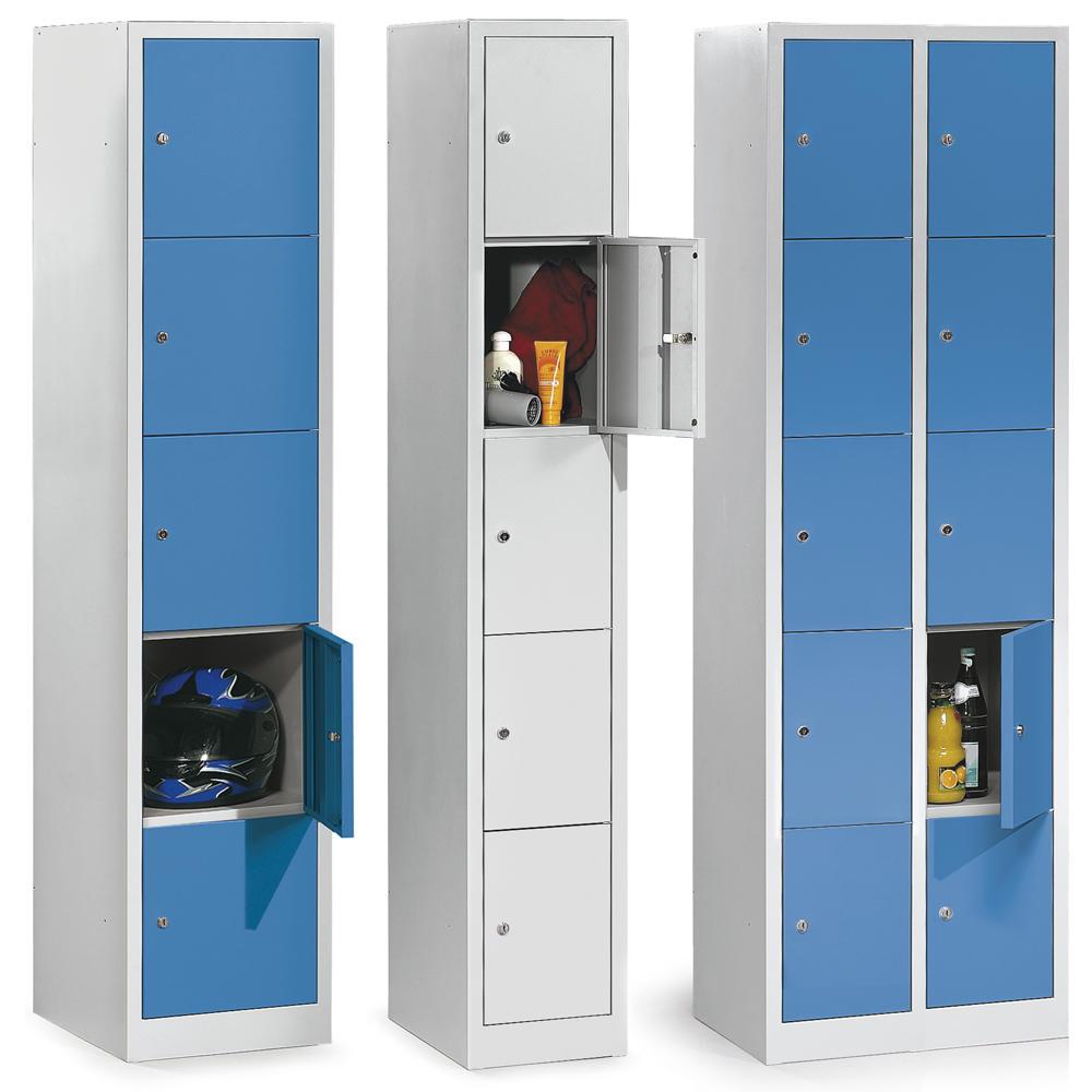Schließfach-Stahlschränke - Abteilbreite 300/400 mm   Büromöbel und ...