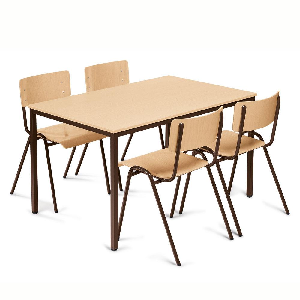 set kantinen stapelst hle tisch b rom bel und. Black Bedroom Furniture Sets. Home Design Ideas