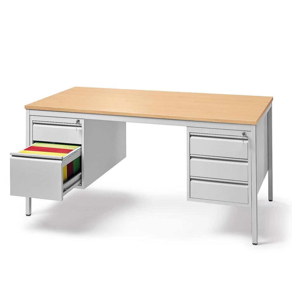 schreibtische mit h ngecontainern base l b rom bel und betriebseinrichtung. Black Bedroom Furniture Sets. Home Design Ideas