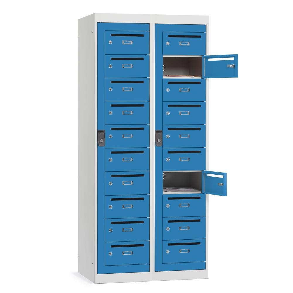 Postverteiler-Stahlschränke   Büromöbel und Betriebseinrichtung